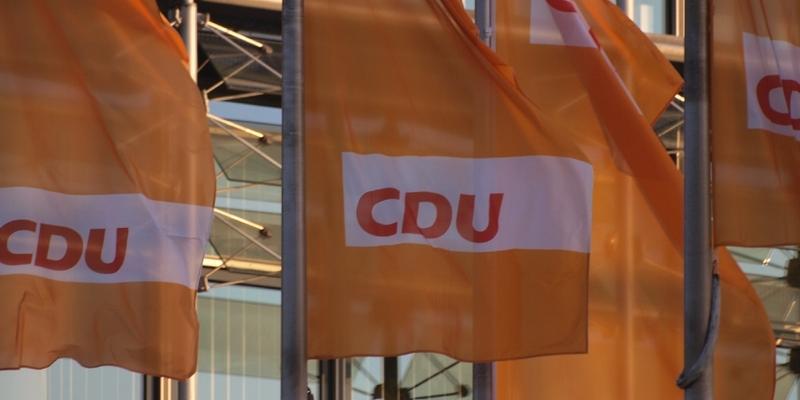 CDU-Flaggen - Foto: über dts Nachrichtenagentur
