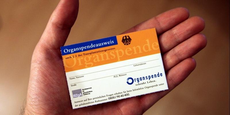 Organspendeausweis - Foto: über dts Nachrichtenagentur