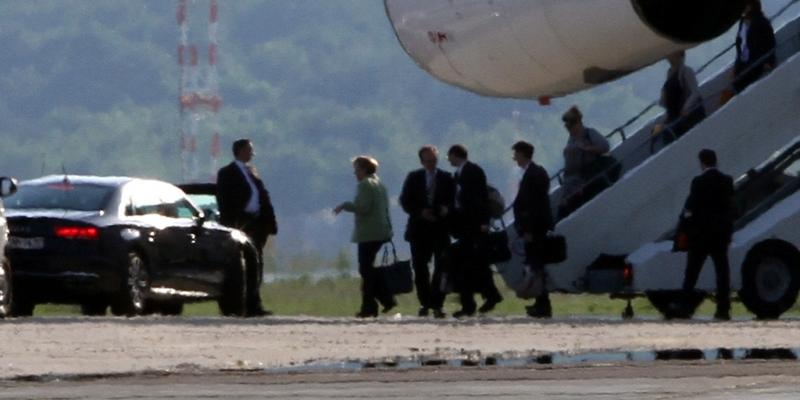Angela Merkel landet mit der Flugbereitschaft - Foto: über dts Nachrichtenagentur