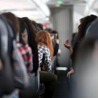 Rothaarige Frau in einem Flugzeug - Foto: über dts Nachrichtenagentur