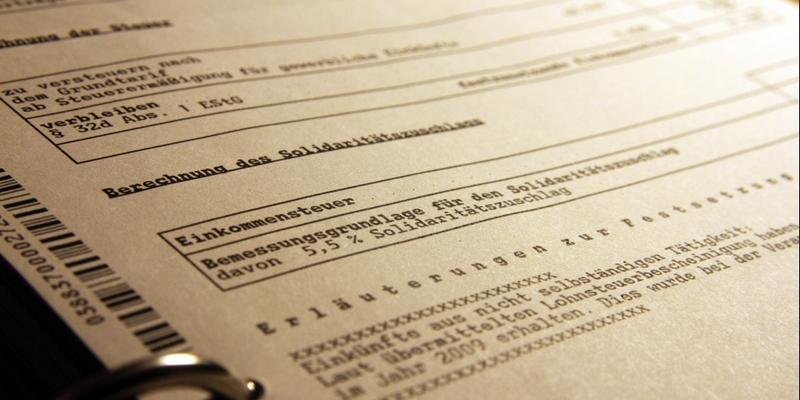 Steuerbescheid - Foto: über dts Nachrichtenagentur
