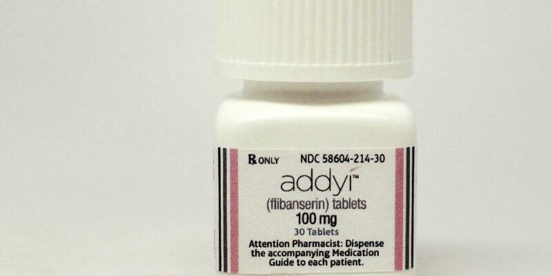 Pink Viagra - Foto: Die Wirkung der Frauen-Lustpille Addyi ist einer neuen Studie zufolge gering. Foto:Sprout Pharmaceuticals/Archiv