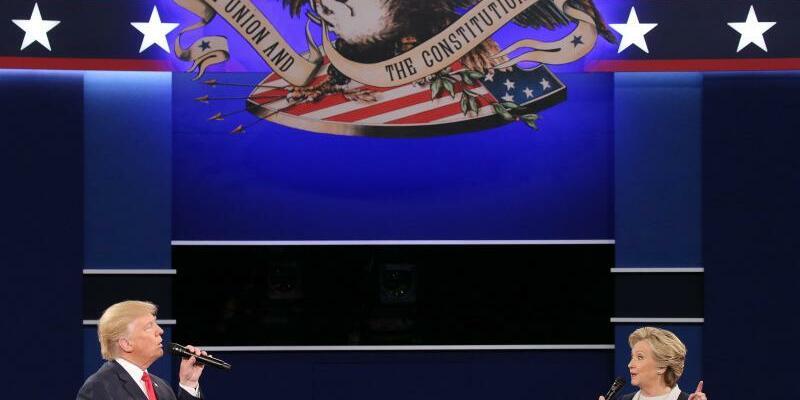 Trump und Clinton - Foto: Gingen nicht gerade zimperlich miteinander um: Donald Trump und Hillary Clinton. Foto:Gary He