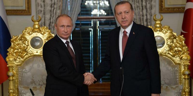Putin und Erdogan in Istanbul - Foto: Alexei Druzhinin/Sputnik