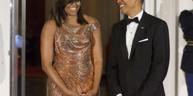 Michelle und Barack Obama - Foto: Michelle und Barack Obama beim Empfang im Weißen Haus. Foto:Michael Reynolds