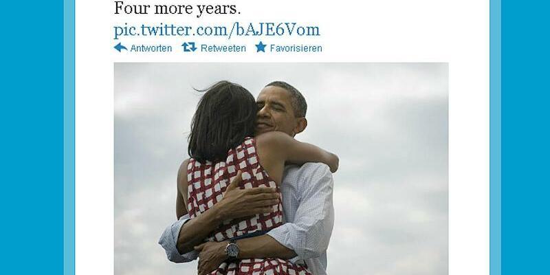 Obamas Sieges-Tweet 2012 - Foto: Twitter/Archiv