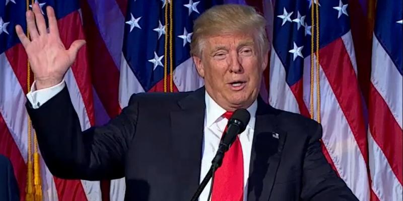 Trump nach Wahlsieg am 9.11.2016 - Foto: über dts Nachrichtenagentur
