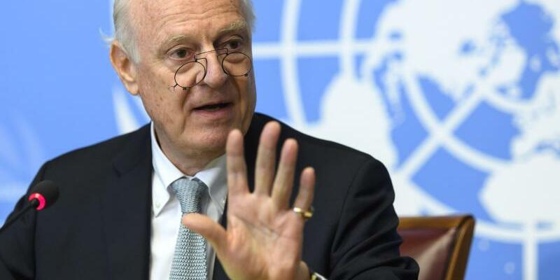 Staffan de Mistura - Foto: UN-Gesandter Staffan de Mistura: «Habe bei einem Besuch in Damaskus am vergangenen Wochenende den Eindruck gewonnen, dassdie syrische Regierung im Moment sehr zuversichtlich ist, dass sie diesen Konflikt schnell und militärisch gewinnen kann». Foto:Mart