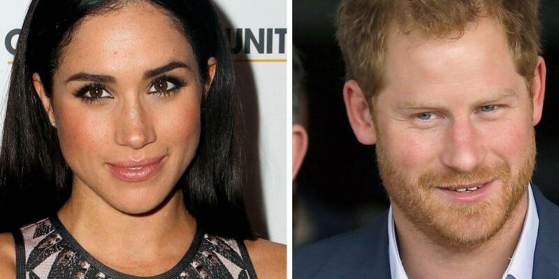 Meghan Markle und Prinz Harry - Foto: Meghan Markle und der britische Prinz Harry waren Shoppen. Fotos. dpa Foto: