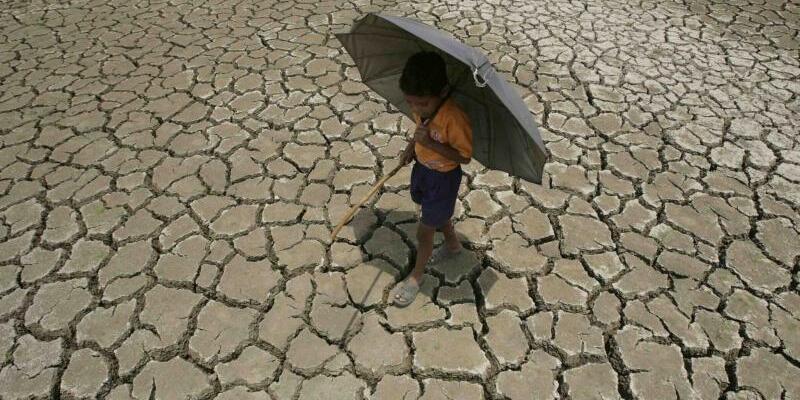 Dürre in Indien - Foto: Land ohne Wasser: Dürre in Indien. 2016 war das wärmste Jahr seit Beginn der Aufzeichnungen 1880 und damit das dritte Hitze-Rekordjahr in Folge. Foto:str