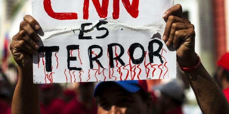 «CNN ist Terror» - Foto: Santi Donaire/Archiv