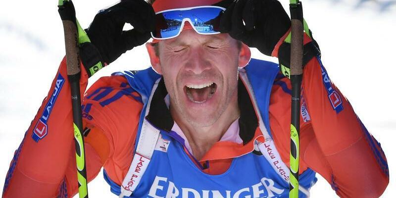 Überraschungssieger - Foto: Lowell Bailey holte sich den Sieg im WM-Einzelrennen über 20 Kilometer. Foto:Martin Schutt