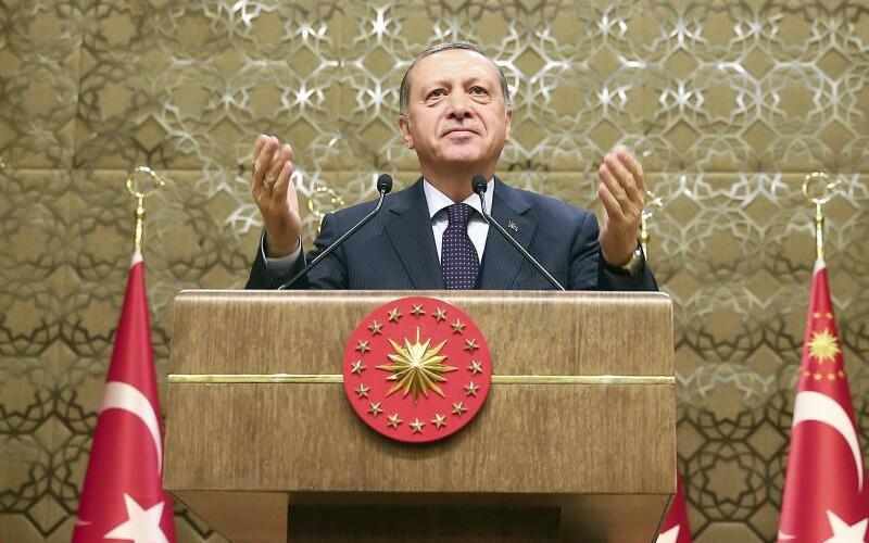Erdogan - Foto: Erdogan wies Kritik aus dem Westen an Inhaftierungen von Journalisten zurück. Foto:Kayhan Ozer