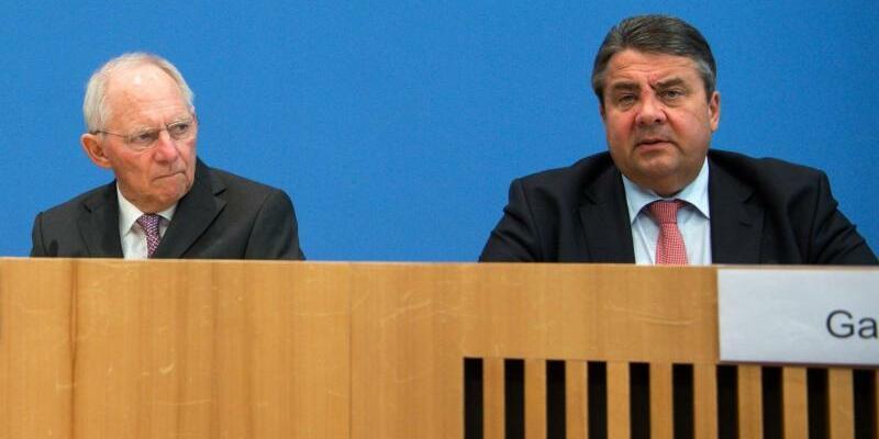 Schäuble und Gabriel - Foto: Bernd von Jutrczenka