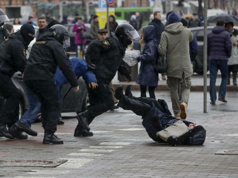 Proteste in Weißrussland - Foto: Sergei Grits