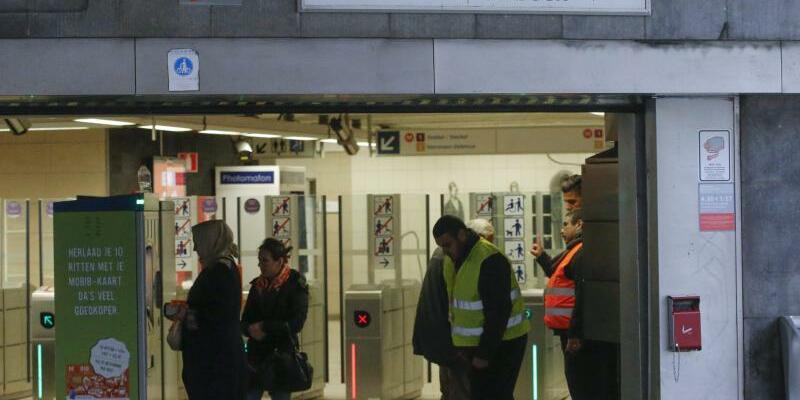 U-Bahnstation Maelbeek - Foto: In der Brüsseler U-Bahnstation Maelbeek verübten im März 2016 islamistische Terroristen einen Anschlag. Foto:Olivier Hoslet/Archiv