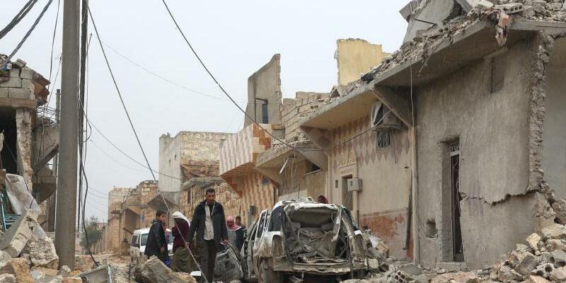 Zerstörter Straßenzug bei Aleppo - Foto: Jan A. Nicolas/Archiv