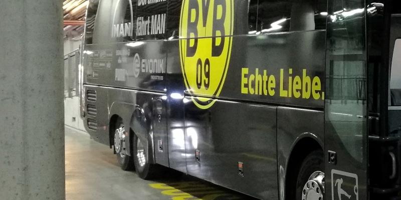 Bus von Borussia Dortmund - Foto: über dts Nachrichtenagentur