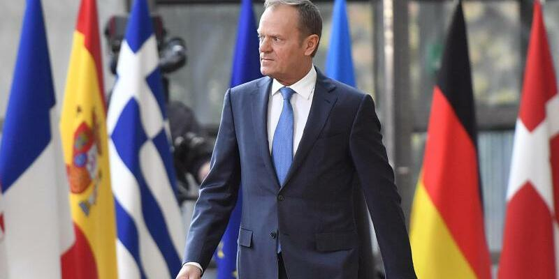 EU-Ratspräsident Donald Tusk in Brüssel - Foto: Martin Meissner