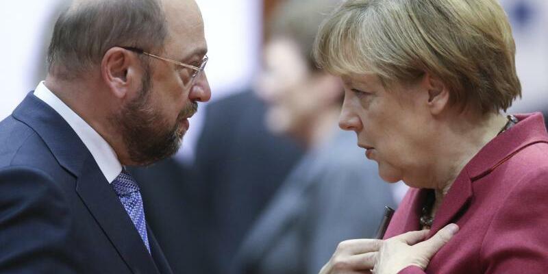 Merkel - Schulz - Foto: Olivier Hoslet/Archiv