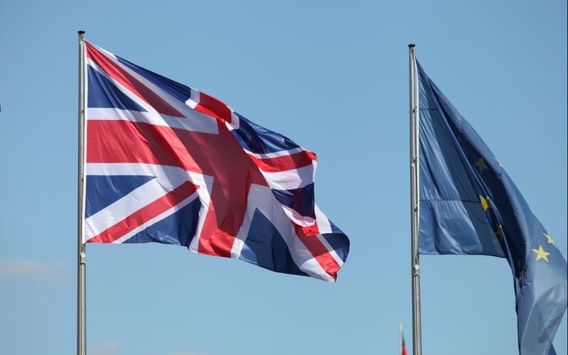 Fahnen von EU und Großbritannien - Foto: über dts Nachrichtenagentur