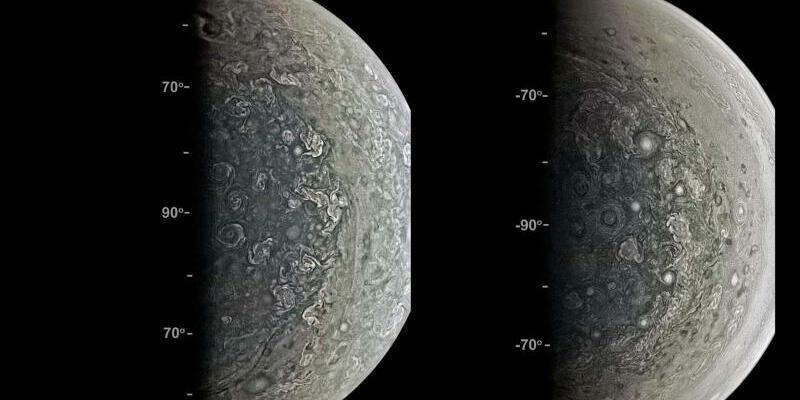 Jupiter-Pole - Foto: J.E.P. Connerney et al./Science