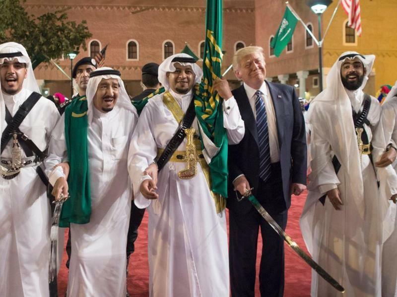 Willkommenszeremonie - Foto: Saudi Press Agency