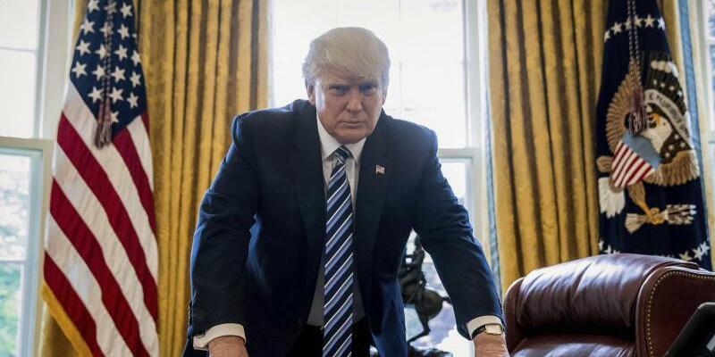 Donald Trump - Foto: Aus Washington hieß es knapp: «Der Präsident wurde informiert.» Donald Trump schließt einen Militärschlag gegen Nordkorea nicht aus. Foto:Andrew Harnik