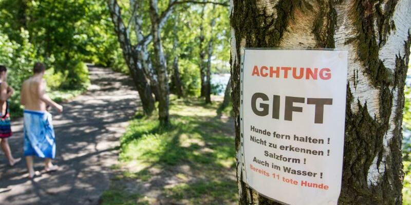 Warnschild am Tegeler See - Foto: Lino Mirgeler