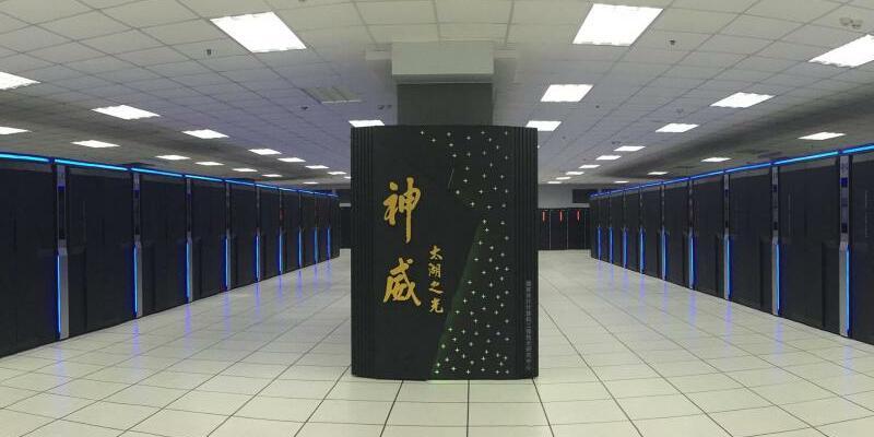 Sunway - Foto: Der Sunway TaihuLight Supercomputer im staatlichen chinesischen Supercomputing-Center in China. Foto:National Supercomputing Center