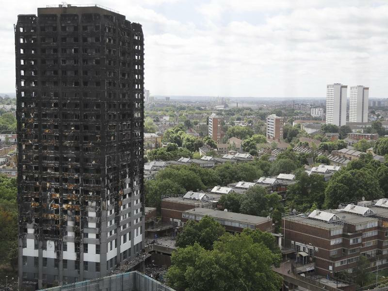Grenfell Tower in London - Foto: Frank Augstein