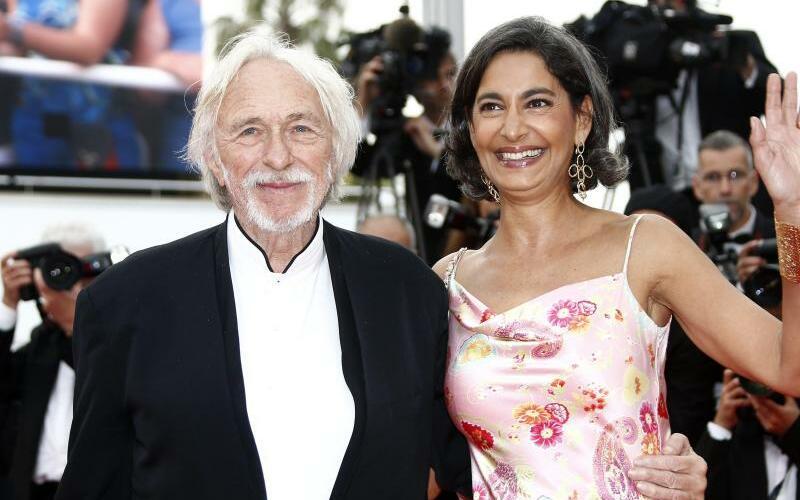 Pierre Richard und Ceyla Lacerda - Foto: Pierre Richard und seine Frau Ceyla Lacerda 2015 in Cannes. Foto: