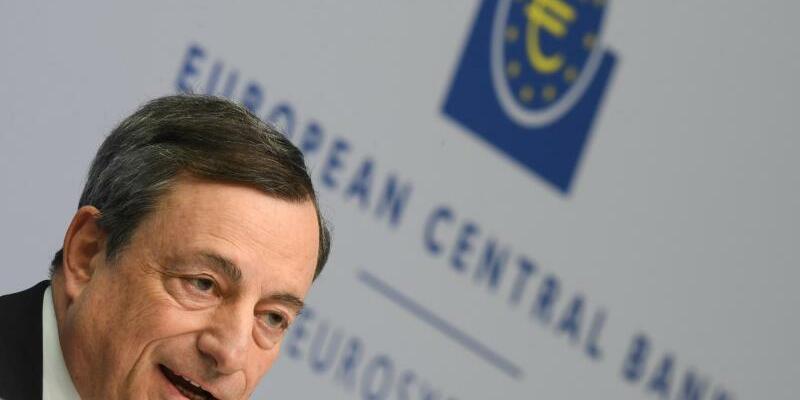 EZB - Draghi - Foto: Mario Draghi, Präsident der Europäischen Zentralbank (EZB). Foto:Arne Dedert