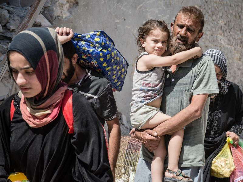 Flucht aus Mossul - Foto: Hugo Passarello Luna