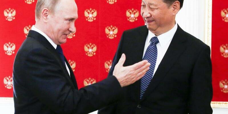 Putin empfängt Xi - Foto: Sergei Chirikov
