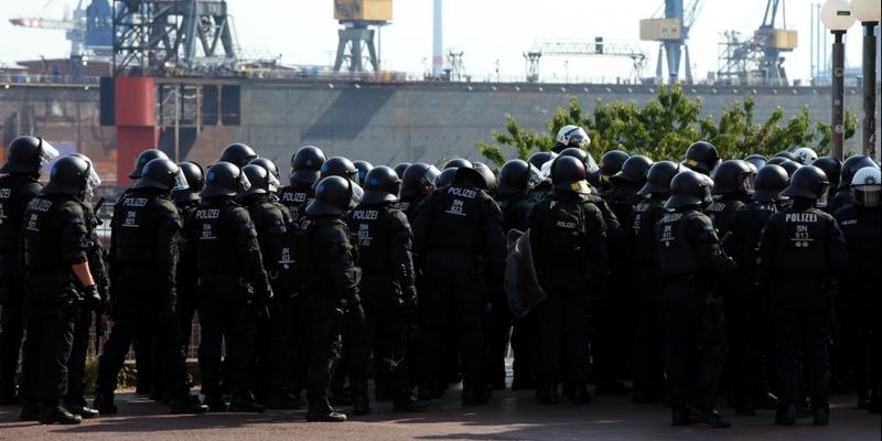 Polizei bei Anti-G20-Protest in Hamburg - Foto: über dts Nachrichtenagentur