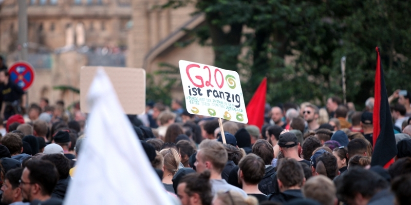 Anti-G20-Protest in Hamburg - Foto: über dts Nachrichtenagentur
