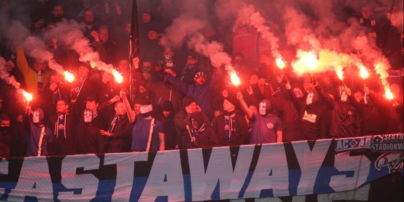 HSV-Fans mit Pyrotechnik - Foto: über dts Nachrichtenagentur