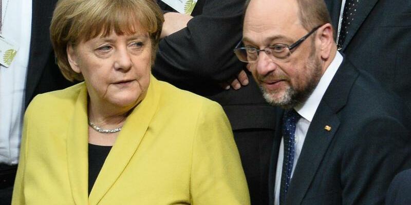 Merkel und Schulz - Foto: Gregor Fischer