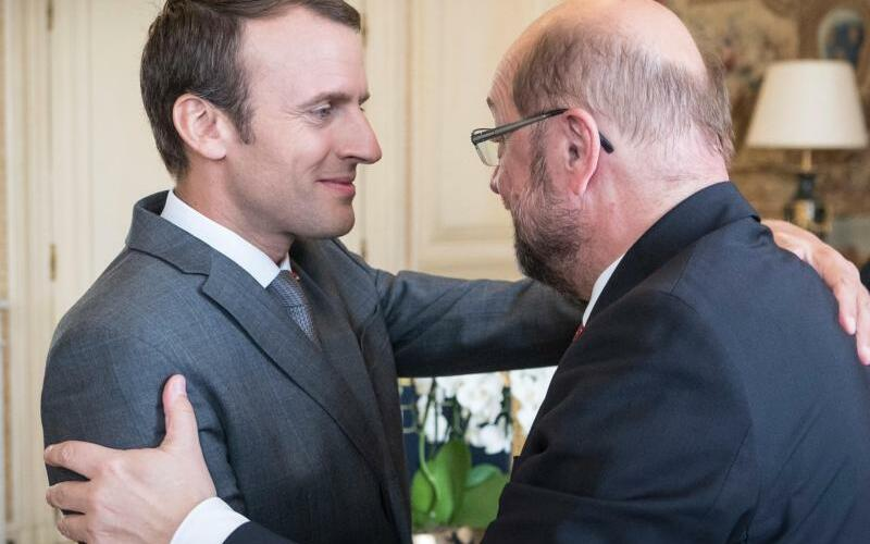 Schulz trifft Macron - Foto: Maurice Weiss