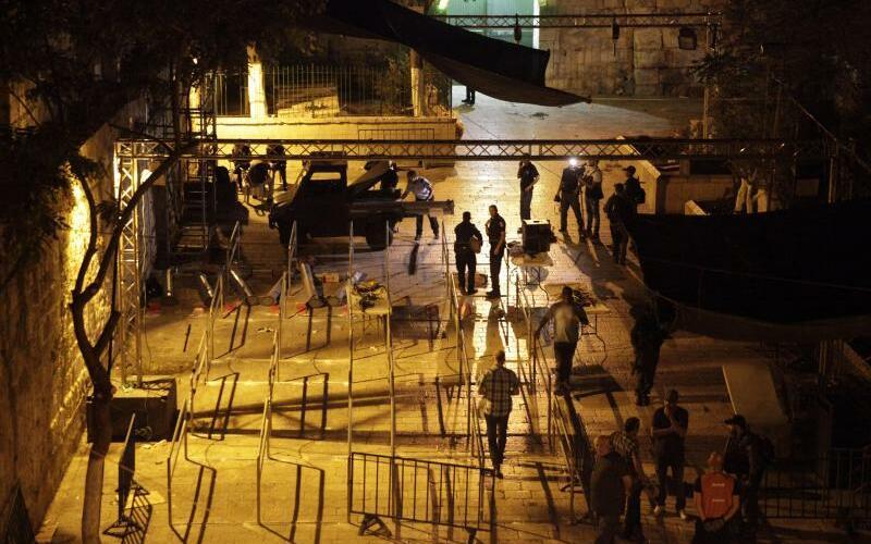 Metalldetektoren am Tempelberg entfernt - Foto: Mahmoud Illean