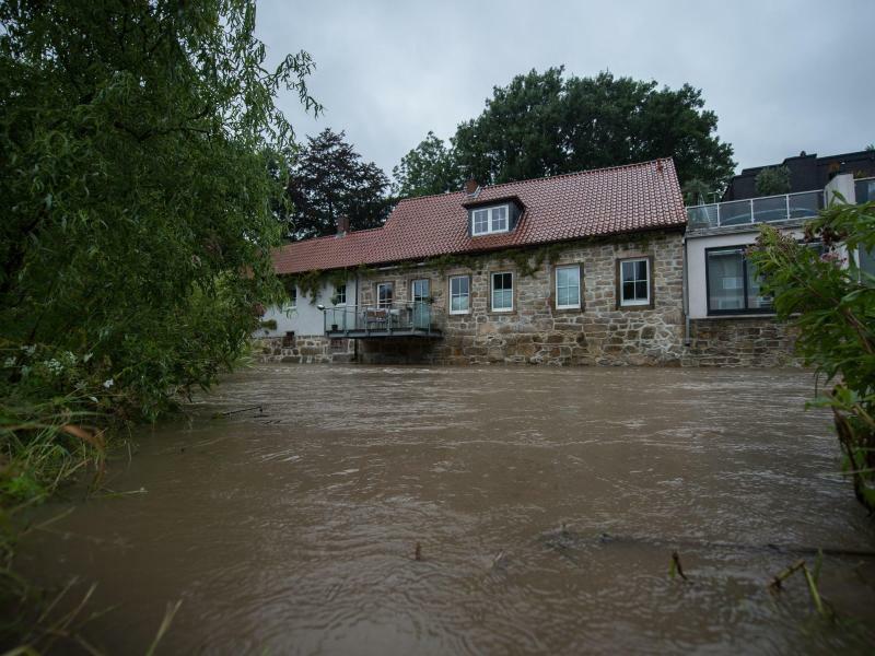 Hochwasser in Hildesheim - Foto: Silas Stein