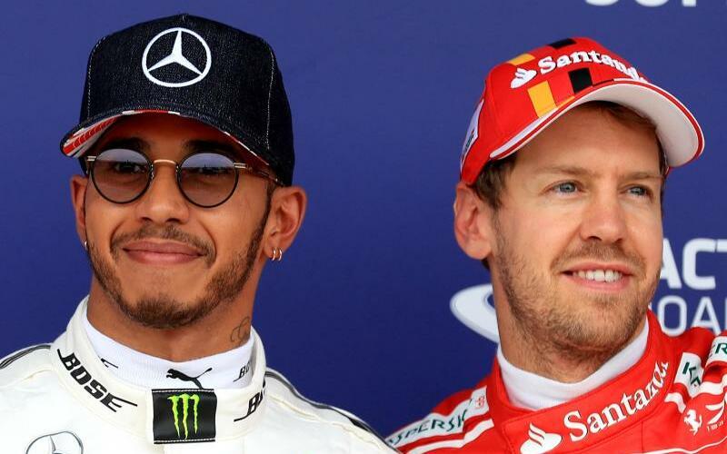 Konkurrenten - Foto: Der Vorsprung von Sebastian Vettel (r) gegenüber Lewis Hamilton ist stark geschrumpft. Foto:Tim Goode