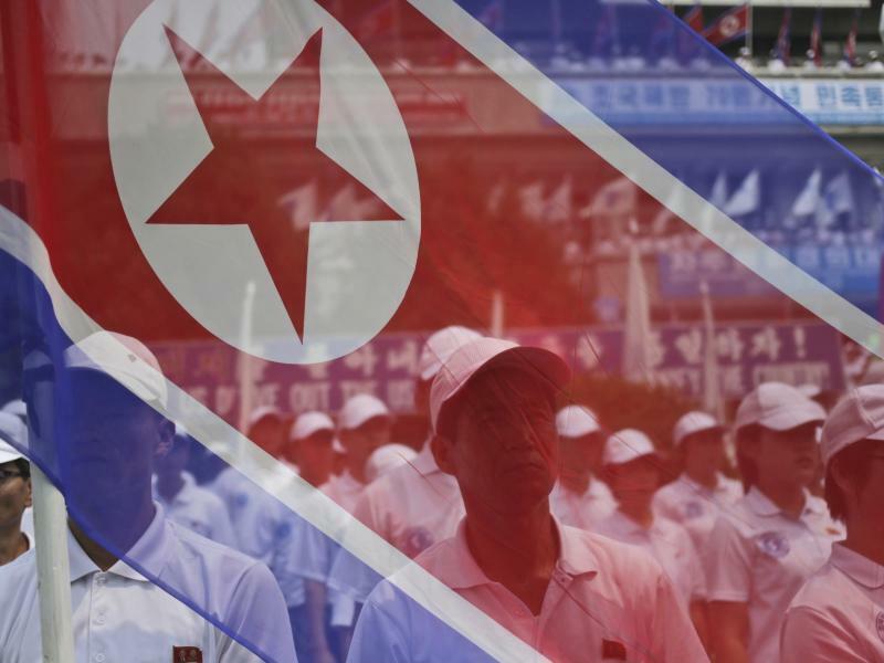 Kundgebung in Nordkorea - Foto: Dita Alangkara