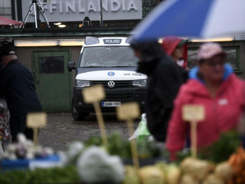 Nach der Messerattacke in Turku - Foto: Vesa Moilanen