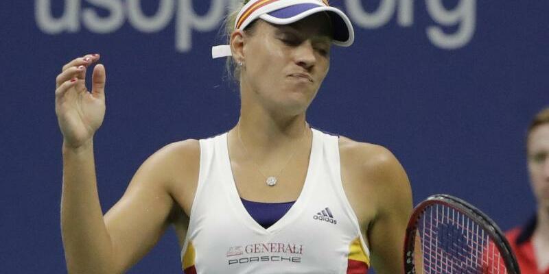 Frühes Aus - Foto: Angelique Kerber unterliegt klar in ihrem Auftaktmatch der US Open. Foto:Frank Franklin Li