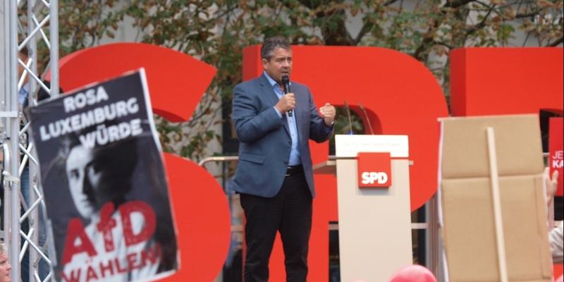 Sigmar Gabrie am 08.09.2017 in Halle - Foto: über dts Nachrichtenagentur