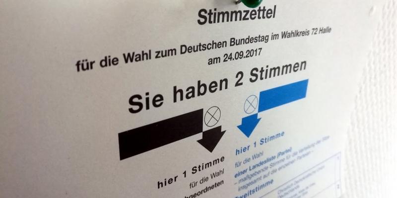 Stimmzettel für Bundestagswahl am 24.09.2017 - Foto: über dts Nachrichtenagentur