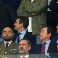 König Felipe - Foto: Mit ernstem Blick:Der spanische König Felipe VI. bei der offiziellen Einweihung des neuen Stadions des Erstligisten Atlético Madrid. Foto:Juan Carlos Rojas/NOTIMEX