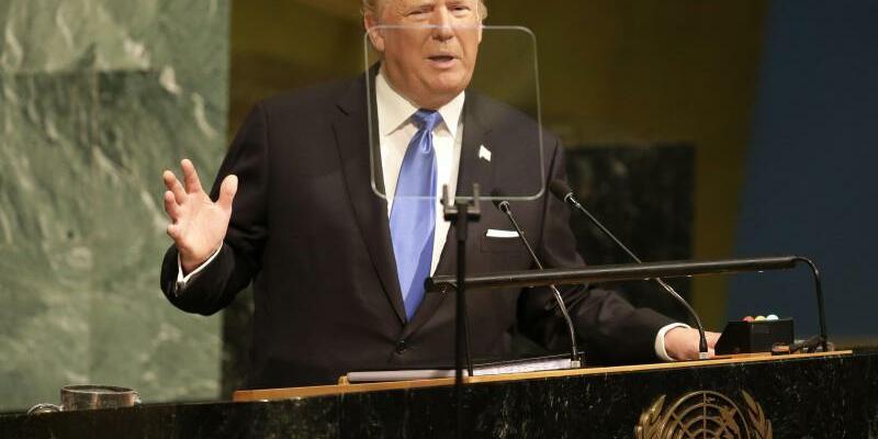 Trump spricht während UN-Generaldebatte - Foto: Seth Wenig